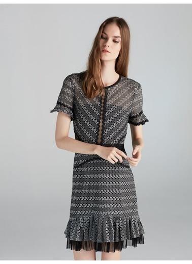 Fırfır Ve Tül Mixli Elbise-Ipekyol